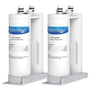 Waterdrop Refrigerator Water Filter, Compatible with EWF01, FC-300, FC300, Pack of 2