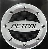 Delhi Traderss Reflective Black Petrol Inside Decal / Sticker For Car Fuel Lid
