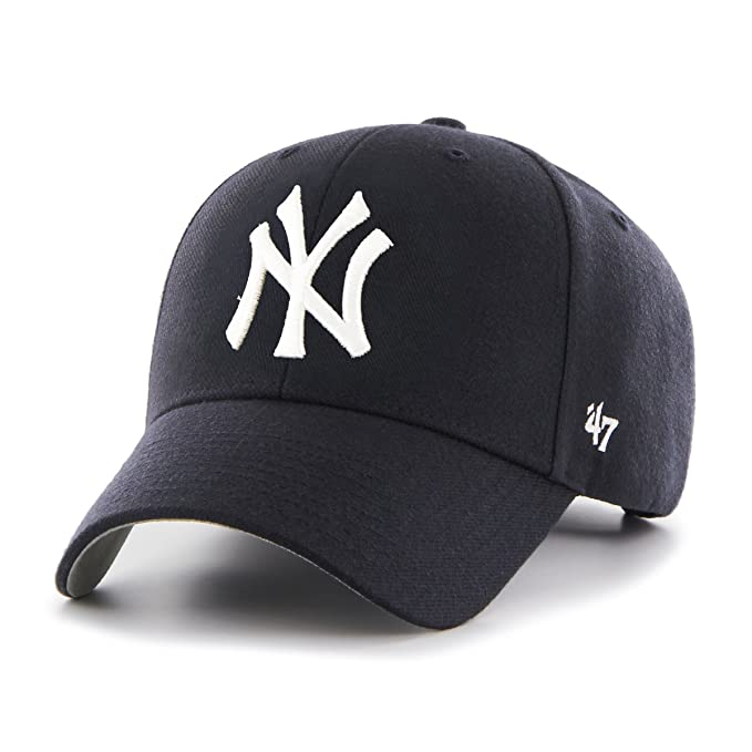 47 York Yankees MLB MVP Structured Cappellino Regolabile - Blu Marino   Amazon.it  Sport e tempo libero c667a10ff123