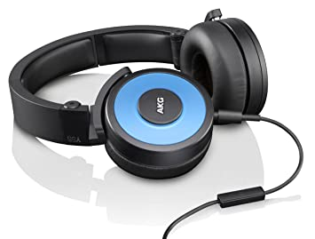 39504686c75 AKG Y55 Blue DJ-Ready Headphones with Enriched Bass, Snug Fit and In ...