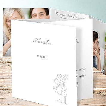 Einladung Hochzeitskarten Strichmannchen 200 Karten