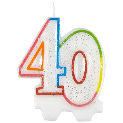 Amscan, vela para el cumpleaños 40 9900811 de 7,5 cm