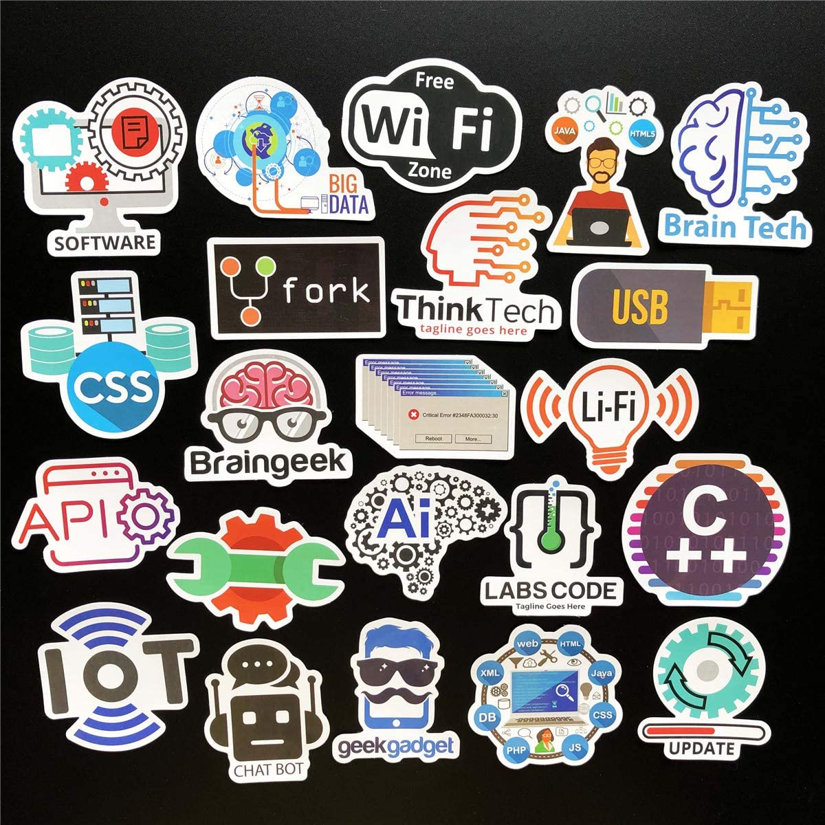 Engineers Programmers COOLCOOLDE Programming Stickers 50Pcs Variety Vinyl Car Sticker Front-end dev,Back-end Languages Stickers for Software Developers Hackers Geeks and Coders