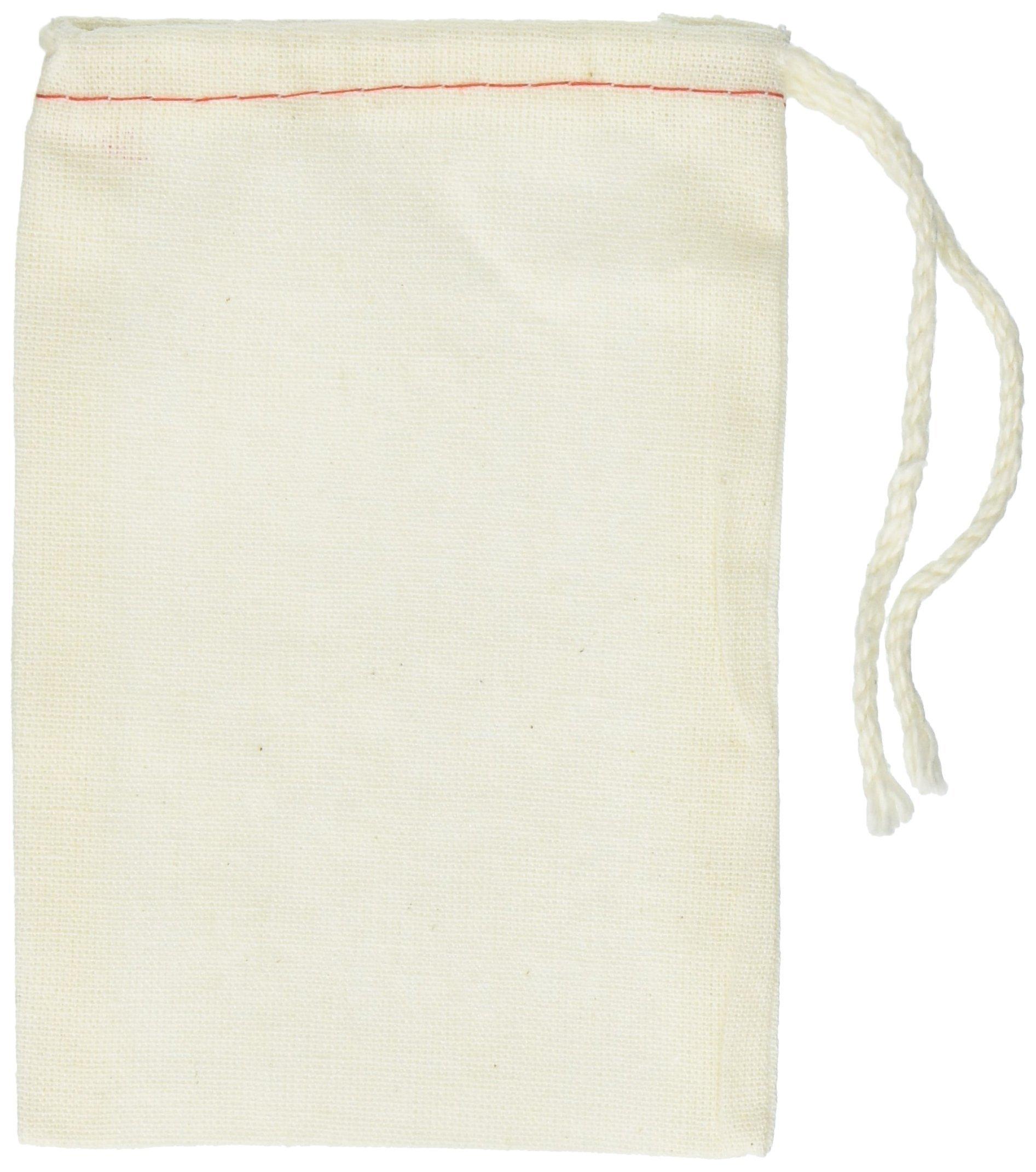 Cotton Drawstring Muslin Bags, 3'' X 5'' - Pack of 25