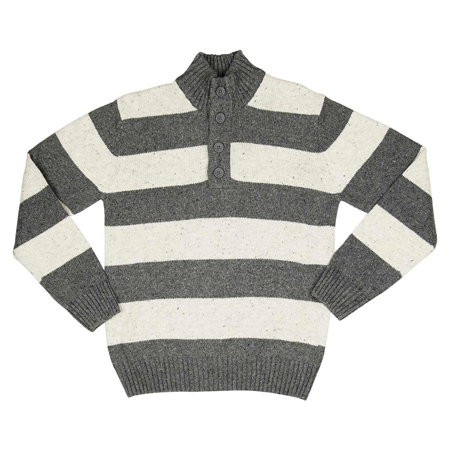 Method Womens Button Up Knit Sweater Small Charcoal Heather