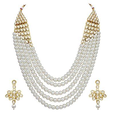 7a9611ac1d4f7 Shining Diva Fashion Latest Design Stylish Kundan Wedding Party Wear  Traditional Necklace Jewellery Set for Women