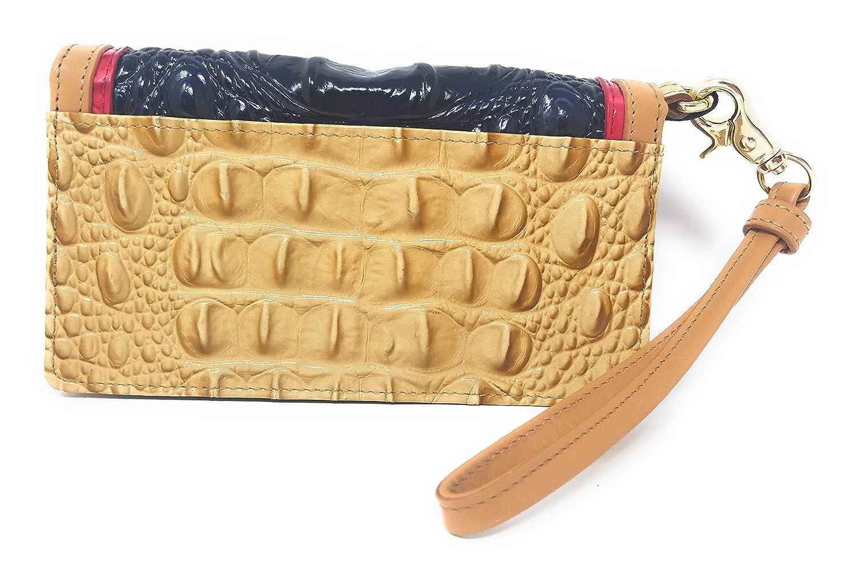 Brahmin Genuine Leather Multipurpose Wristlet Ink Multi