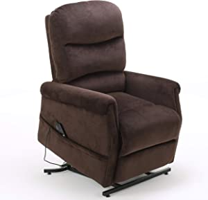 Christopher Knight Home Halea Fabric Lift Up Chair, Chocolate
