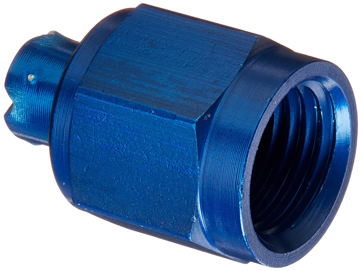 Aeroquip FCM3752 Blue Anodized Aluminum -4AN Tube Cap Fittings - Pack of 2