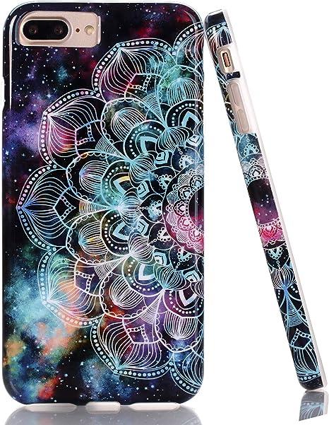 BAISRKE Cute Mandala in Galaxy Design Case Slim Soft TPU Rubber Bumper Silicone Protective Phone Case Cover for iPhone 7 Plus/8 Plus/6 Plus/6S Plus ...
