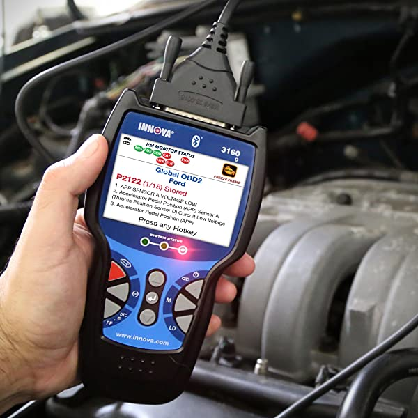 Innova 3160g OBD scanner is a great choice for anyone looking to stream & record live data, diagnose check engine, etc