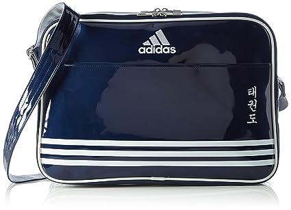 be169df58e274 adidas Umhängetasche Shiny Sports Bag PU TKD Navy Blue Silver