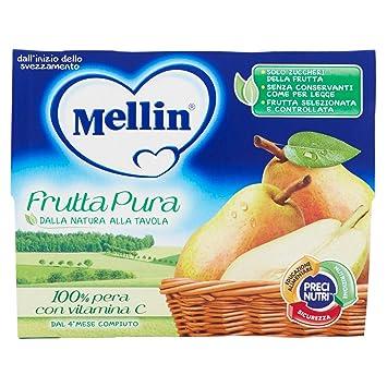 Mellin La Merenda Fruit Pear 4x100g