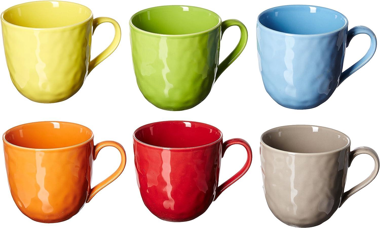 Set of 6 Yedi Houseware Classic Coffee and Tea Birch Teacups and Saucers