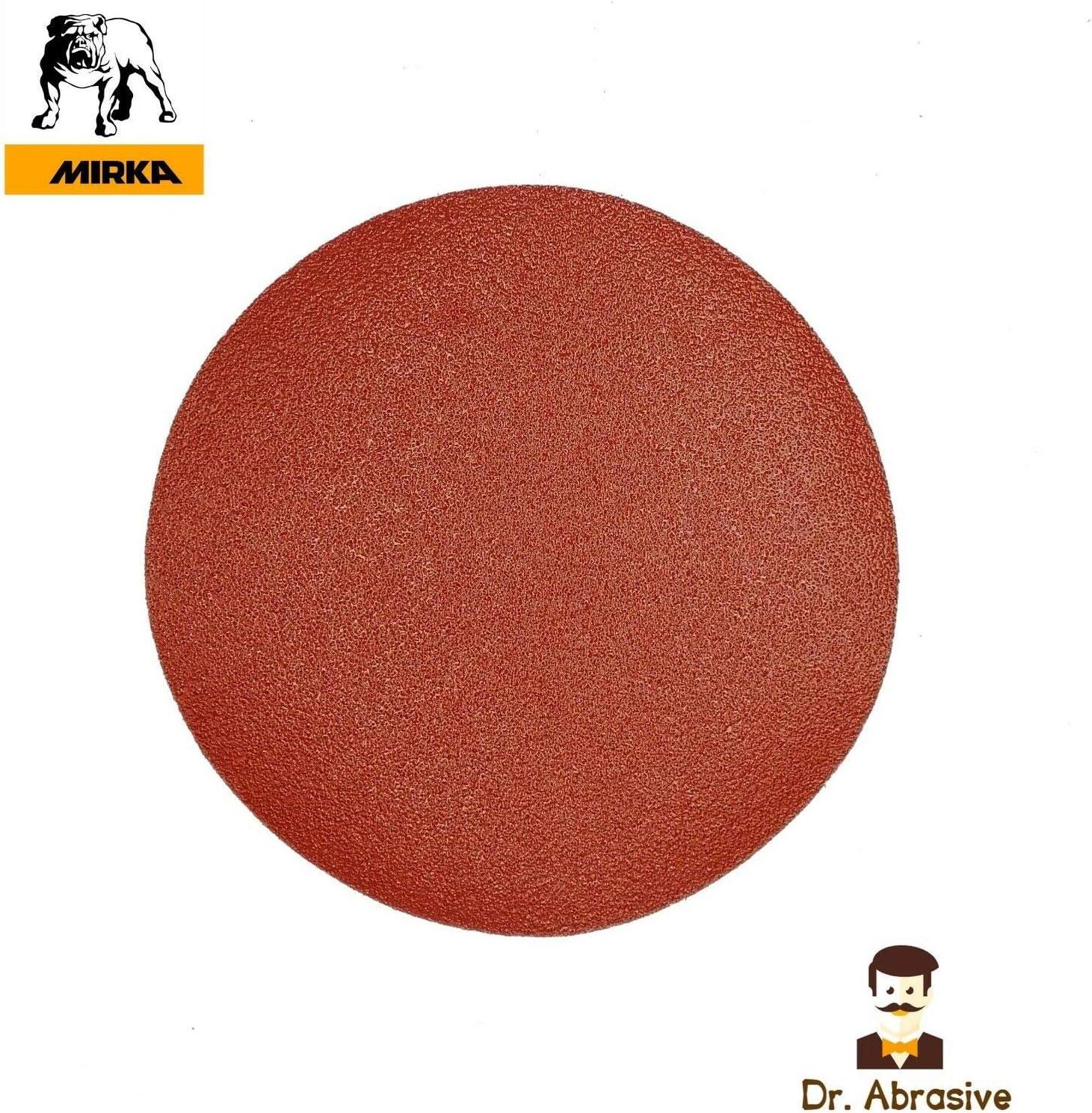 415 250mm 10 Sanding Discs Quality MIRKA Pads Hook /& Loop Grit P100 Pack of 10