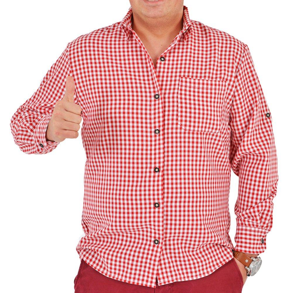 Trachtenhemd Anton Rot Trachtenland