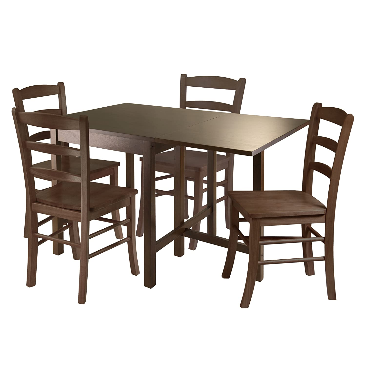 Amazon.com - Winsome Lynden 3-Piece Dining Table with 2-Ladder ...