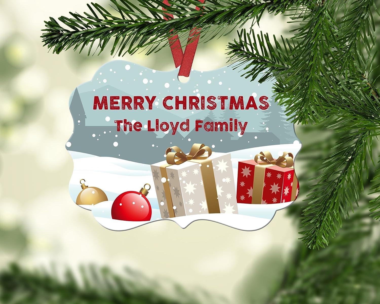 Personalized Christmas Decor.Amazon Com Personalized Christmas Ornament Family
