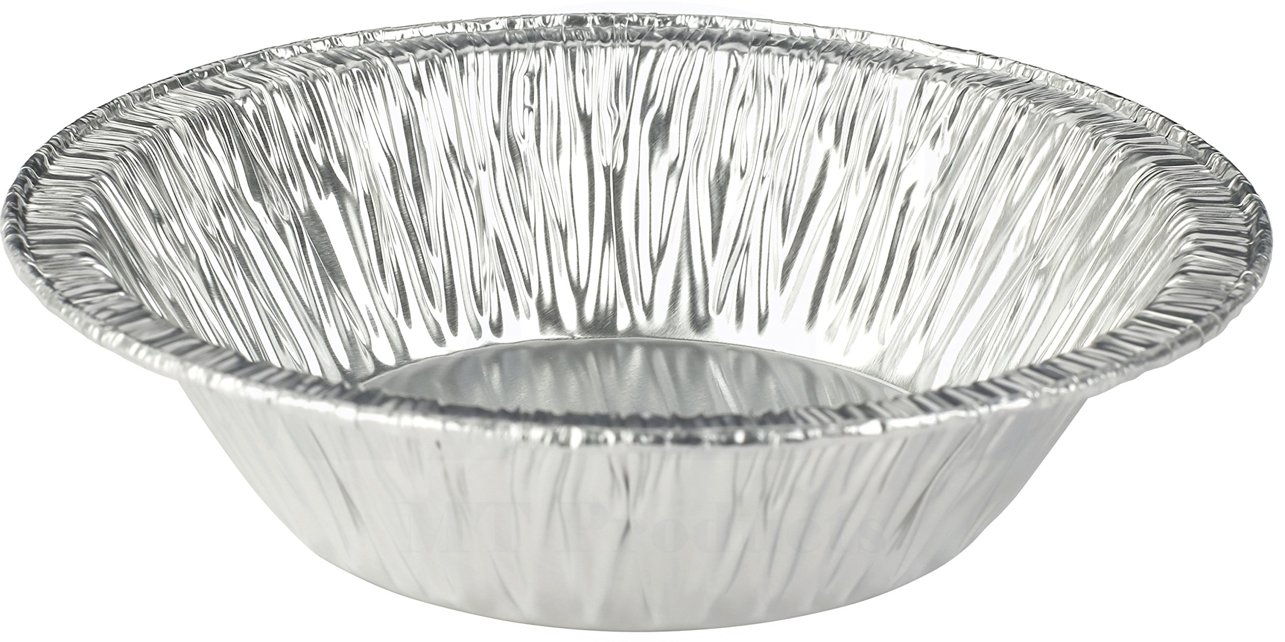 MT Products 5 Inch Disposable Aluminum Foil Tart/Pie Pan 1 1/4'' Deep - (50 Pieces)