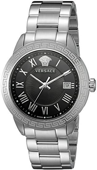 Versace Hombre p6q99gd008 S099 par analógico Reloj de Cuarzo, Plata