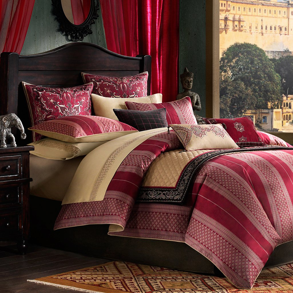 Amazon.com: Artology Sari Mini Comforter Set, King, Multi: Home U0026 Kitchen