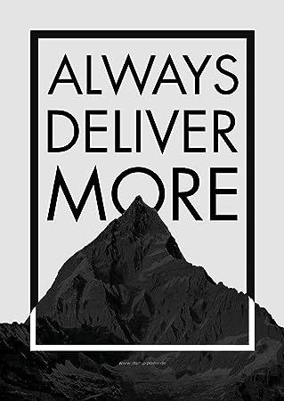 Startup Poster Always Deliver More Motivation Spruch Office 59 5cm