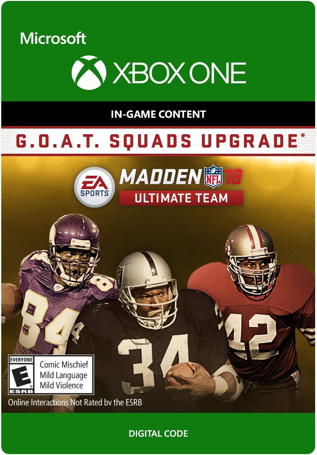 c109e8d4f Madden NFL 18 - G.O.A.T. Squads Upgrade - Xbox One  Digital Code . by  Electronic Arts