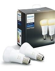 Philips Hue White Ambiance Lampadine LED, Attacco E27, 9 W, 2 Pezzi