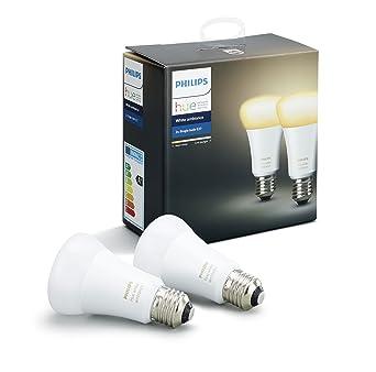 Pack 2 De Connectées E27 White Ampoules Philips Ambiance Hue D9HWEI2