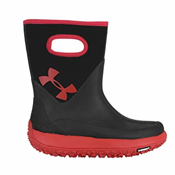 under armour fat tire boots. under armour girls fat tire muddler rubber boots - red/black 3.0 m 0