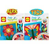 ALEX Toys Crafts Simply Needlepoint Flower & Butterfly Gift Set Bundle - 2 Pack