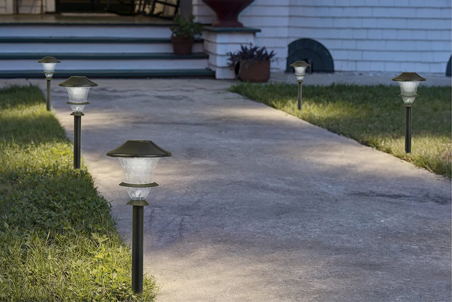 Paradise By Sterno Home Low Voltage Cast Aluminum 0 3w Led Path Light Kit 6 Pack Mimbarschool Com Ng