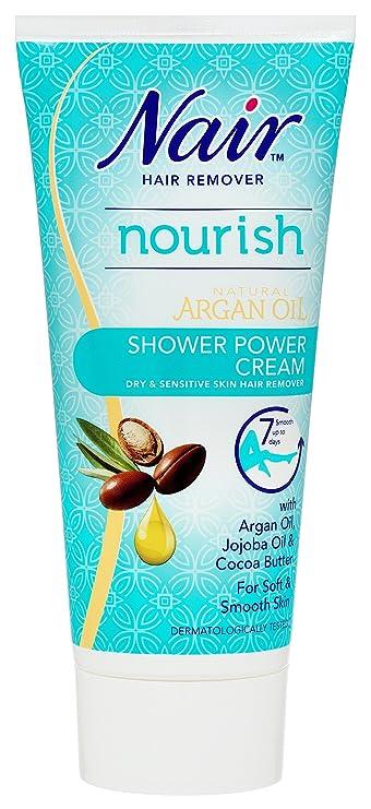 Nair - Aceite de Argán Natural para eliminar pelo seco y sensible ducha potencia, 200 ml: Amazon.es: Salud y cuidado personal