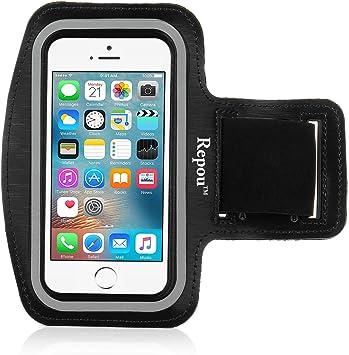 Repou iPhone SE Pulsera, Negro Sports Brazalete Deportivo Correr Fitness Brazo Funda Carcasa Funda Case para iPhone SE 5S 5C 5: Amazon.es: Electrónica