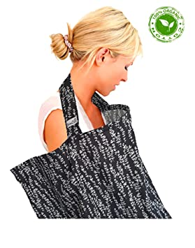 Top Quality Oeko-Tex/® Certified 100/% Cotton Boned Nursing Tops black with Storage Bag white dot BebeChic.UK Breastfeeding Covers