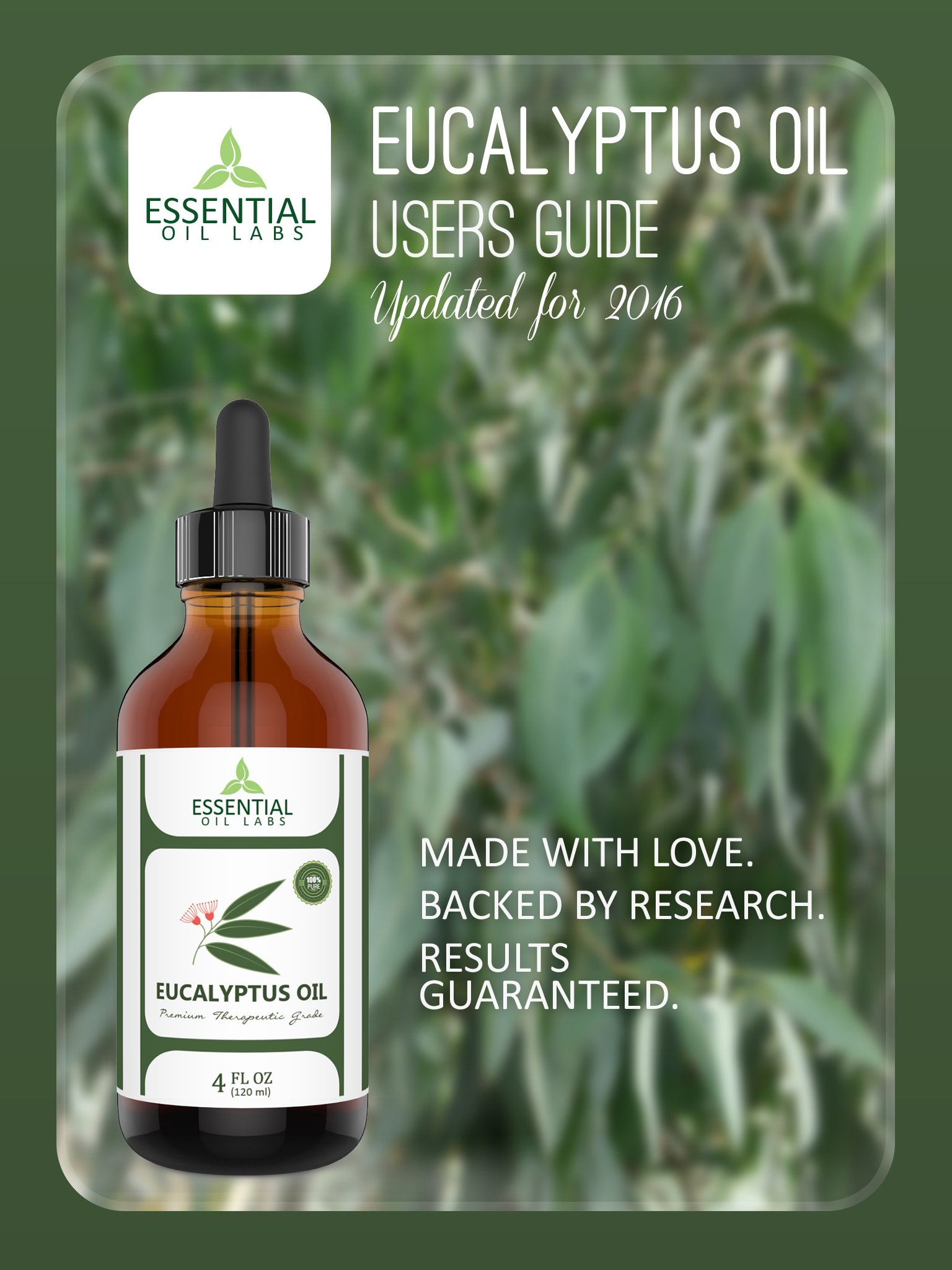 Eucalyptus Oil - Highest Quality Therapeutic Grade Backed by Research - Large 4 oz Bottle with Premium Dropper - 100% Pure and Natural by Essential Oil Labs by Essential Oil Labs (Image #9)