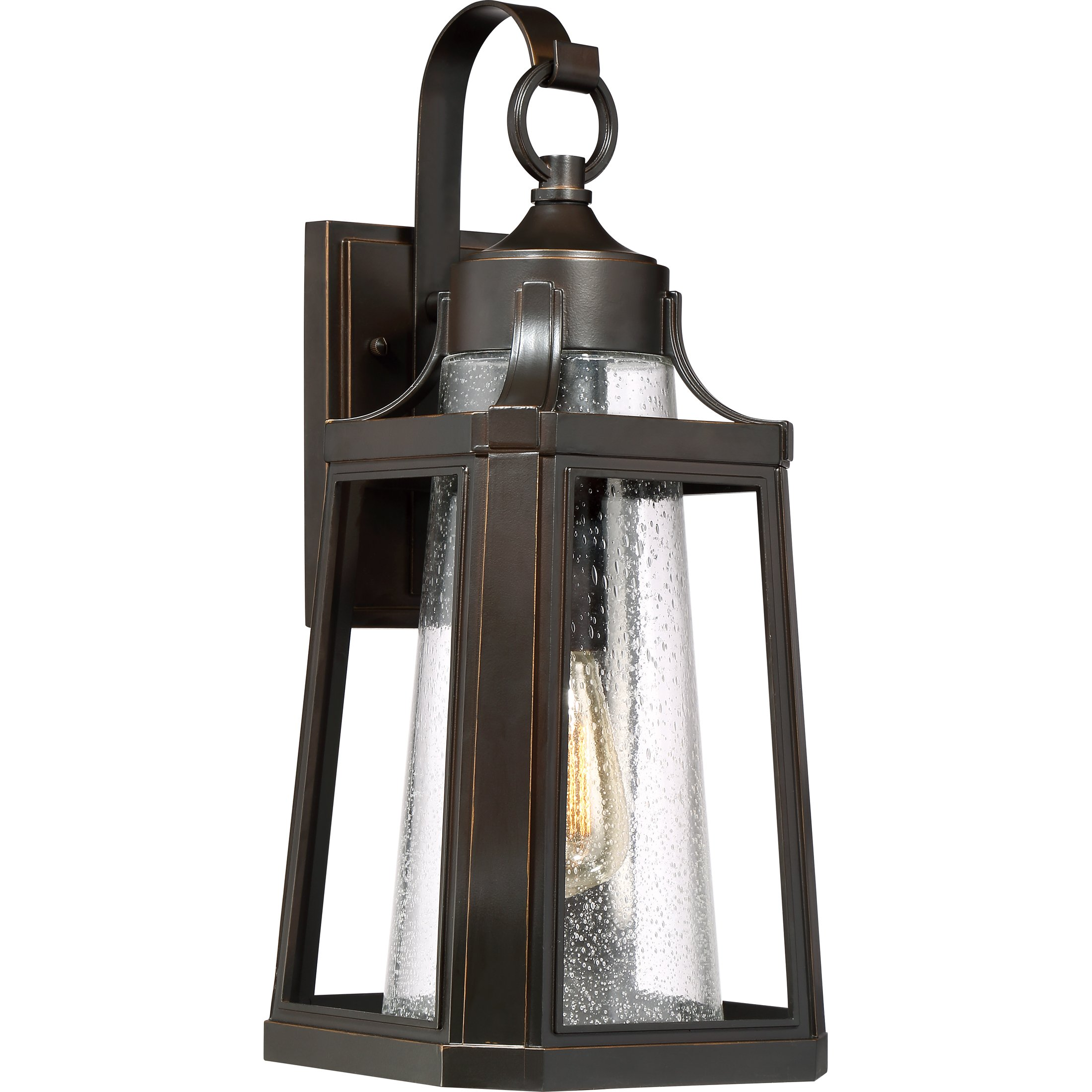 Quoizel One Light Outdoor Wall Lantern LTE8409PN, Large, Palladian Bronze by Quoizel