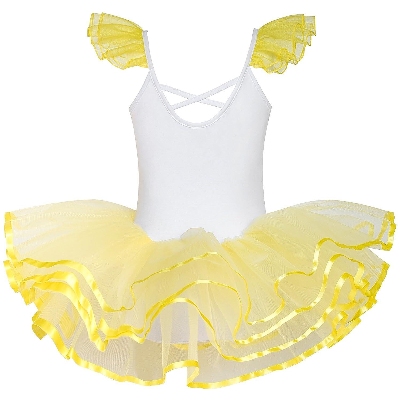 86-122 Sunboree M/ädchen Kleid Niedlich Tutu Tanzen Rosa Herz Gr