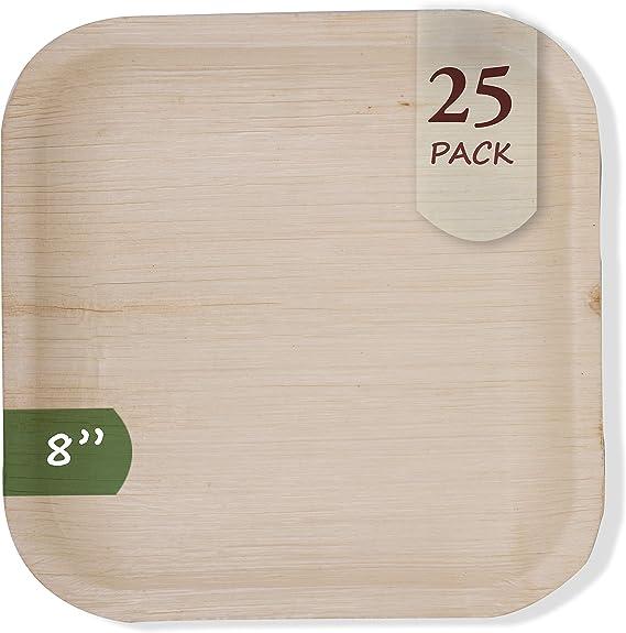 Amazon.com: Platos desechables de hoja de palma ...