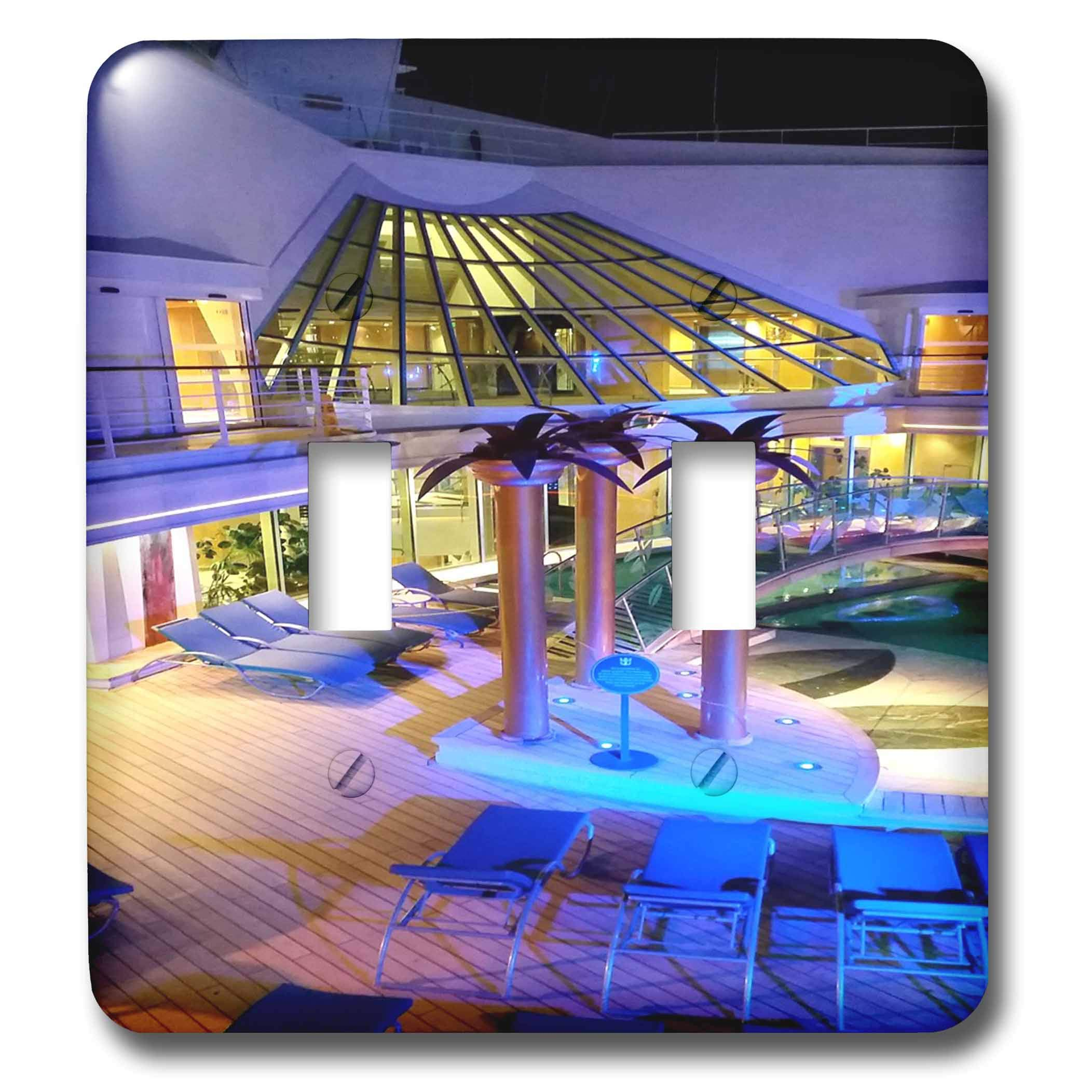 3dRose Lens Art by Florene - Cruise Ship Sites - Image of Adult Pool Area With Spa - Light Switch Covers - double toggle switch (lsp_291436_2)