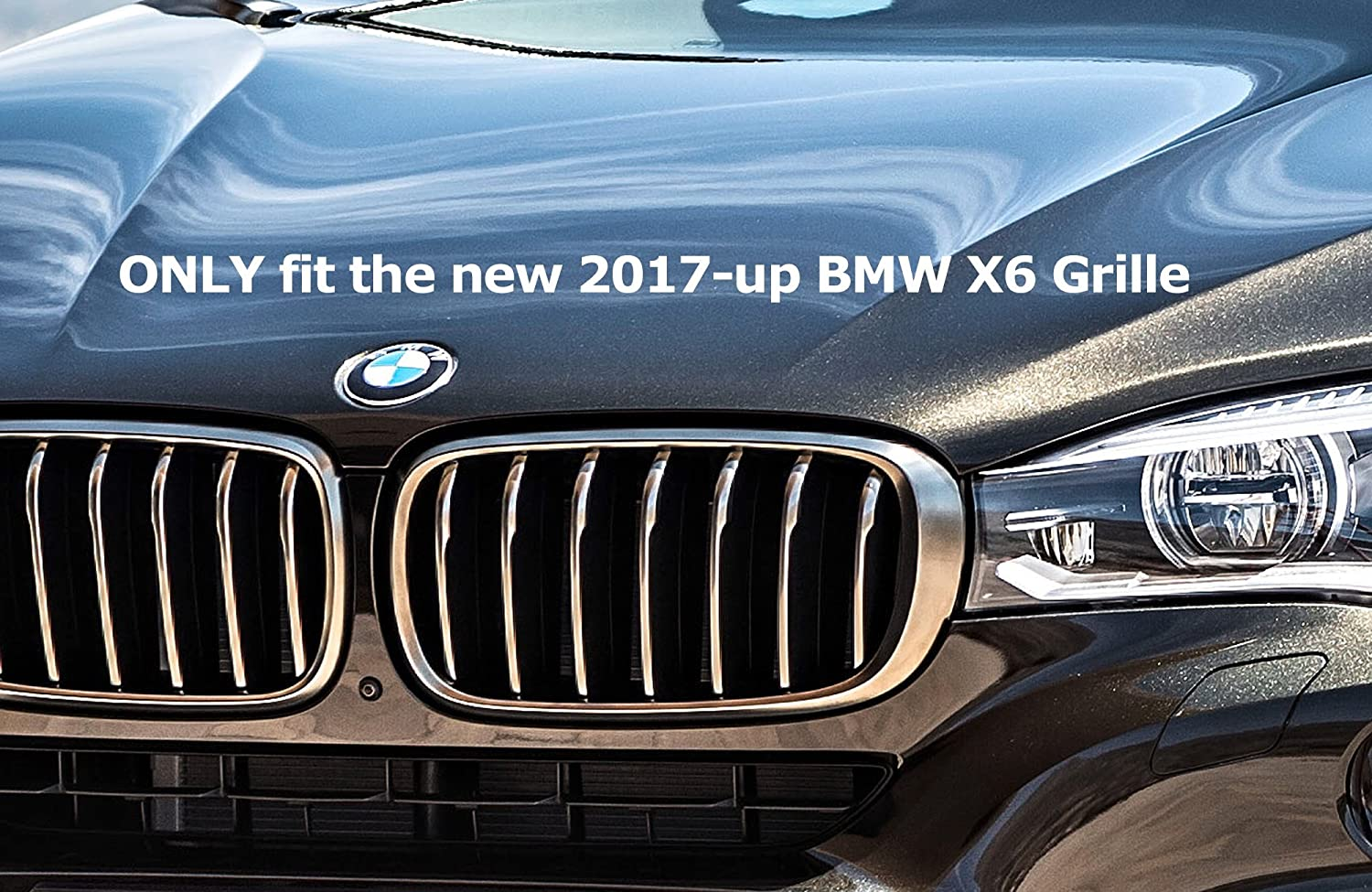 8 Beams iJDMTOY Exact Fit //////M-Colored Grille Insert Trims For BMW F30 F31 3 Series 320i 328i 330i 335i 340i M-Performance Black Kidney Grilles Not For The 11-Beam Standard Grille nor 4 Series