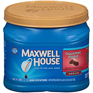 Maxwell House Gourmet Roast Ground Coffee (25.6 oz Canister)