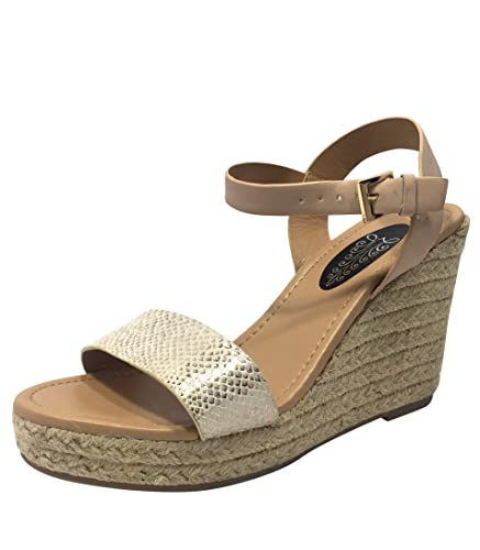 c0b2edb87 Designer Ladies Womens Chunky Heel Espadrille Wedges Platform Open Toe  Ankle Strap Summer Beach Holiday Raffle Rope Style Girls Sandals Wedge Size  3 4 5 6 7 ...