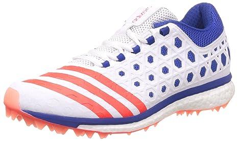 new styles c23f2 bb214 adidas - Zapatillas de críquet para hombre blanco blanco, rojo y azul