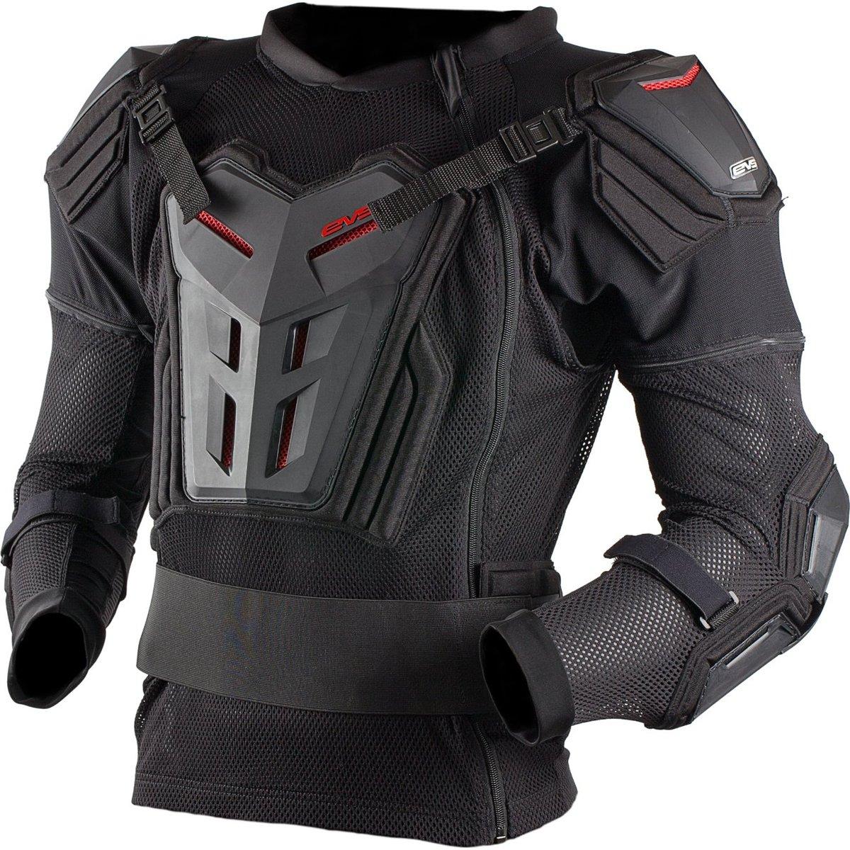 EVS Comp Suit Adult Ballistic Jersey MotoX Motorcycle Body Armor - Black / Medium