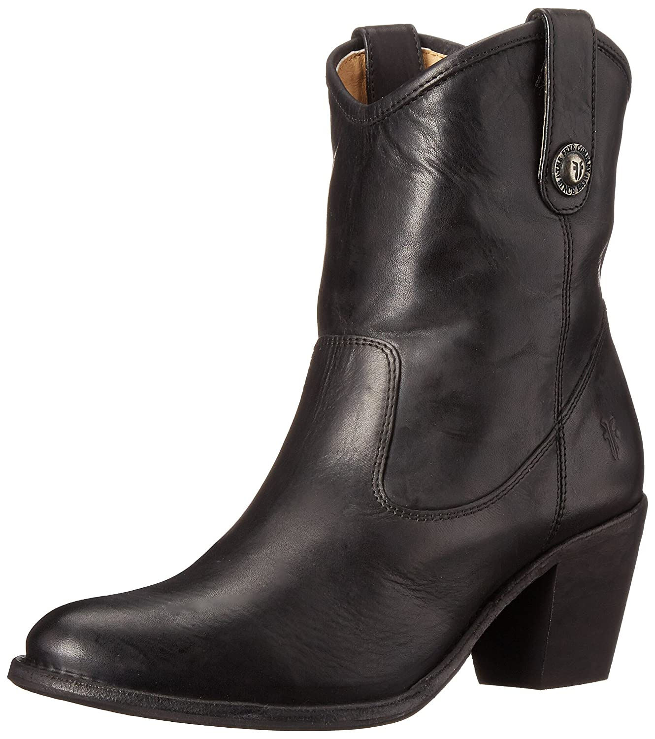 FRYE Women's Jackie Button Short Boot B00TPULOXI 7 B(M) US|Black - Washed Antique Pull Up Leather-76593