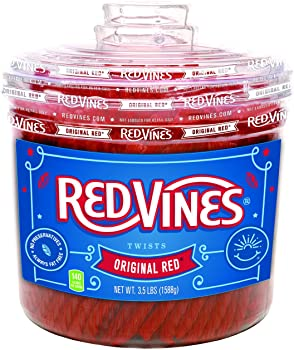 Red Vines Licorice Soft & Chewy Original Red Flavor Candy Twists 56.01 Oz