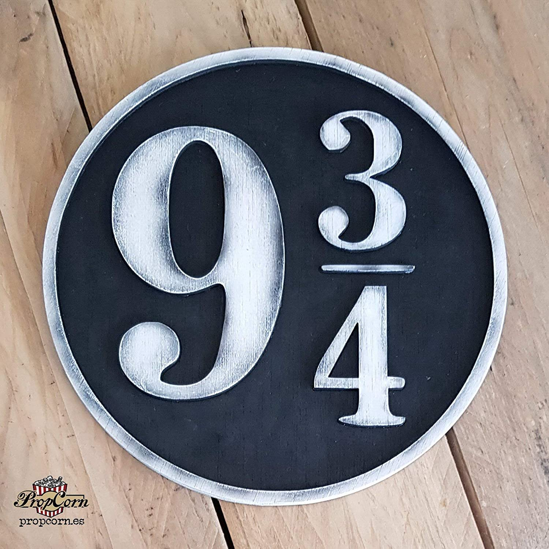 Cartel Harry Potter 9 3/4 hecho en madera, pintado y ...