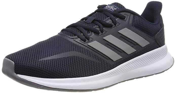 adidas Runfalcon Sneakers Herren Blau mit grauen Streifen