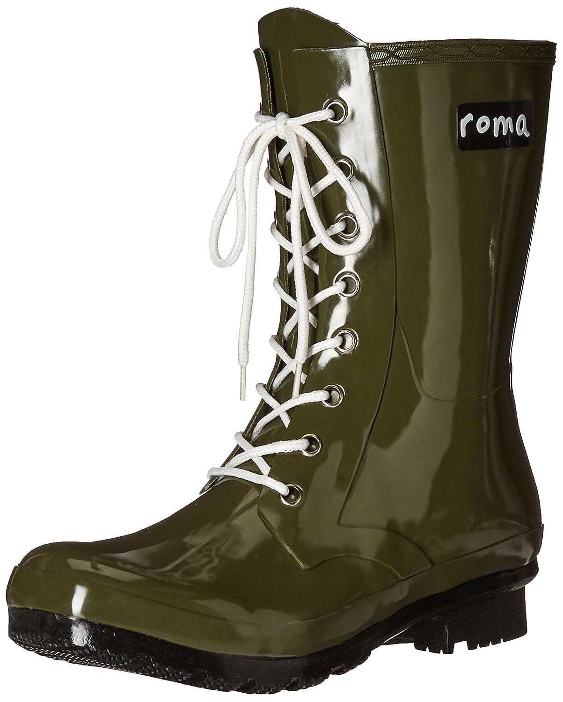 Roma Boots Women's EPAGA Short Lace-up Rain Boots B01L2WOIS4 8 M US|Camo